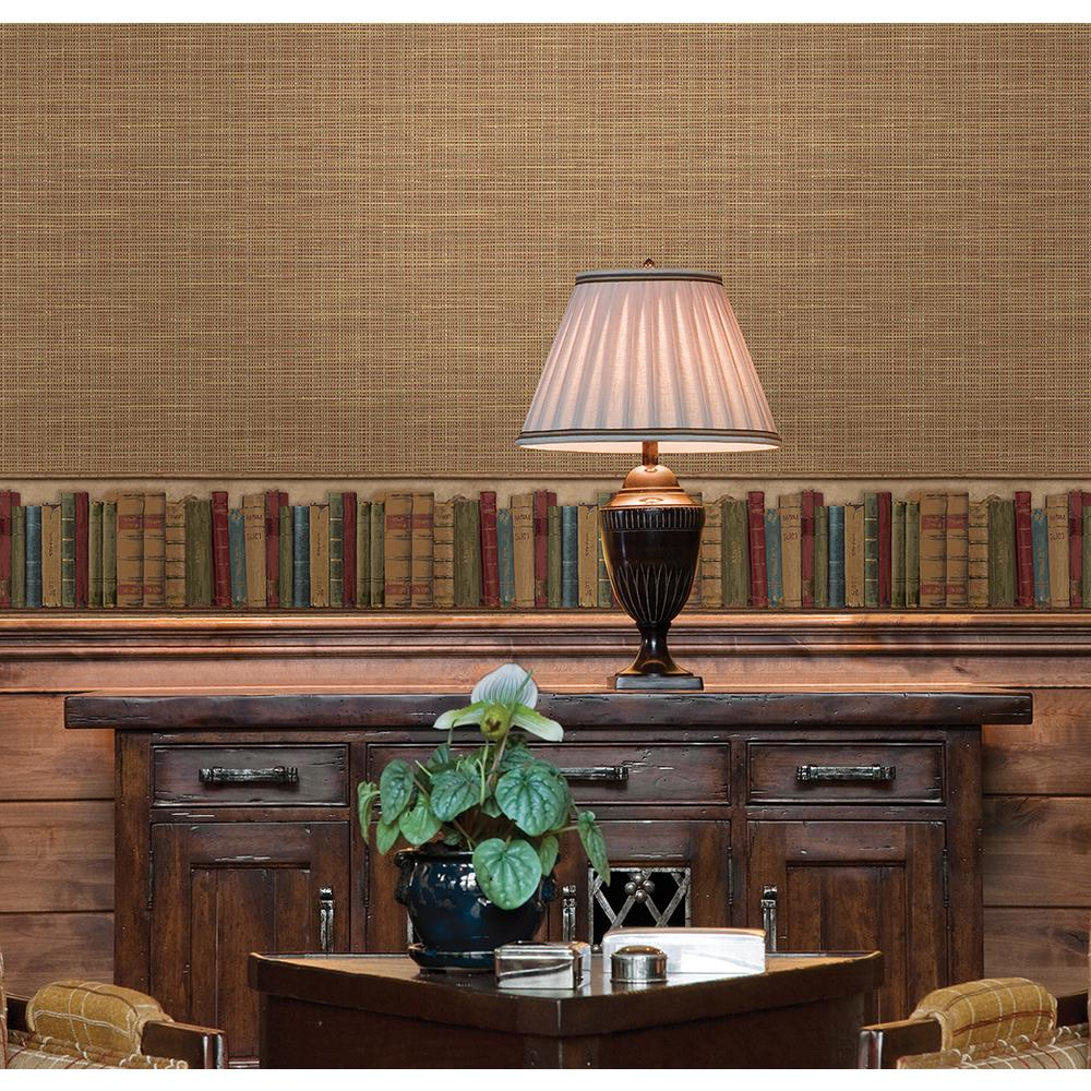 Modern Wallpaper Sage Green Metallic Faux Grasscloth: York Wallcoverings Grasscloth Wallpaper-EF5033