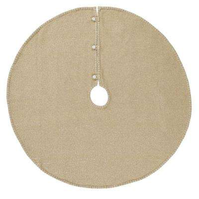 48 in. Cotton Natural Nowell Farmhouse Christmas Decor Tree Skirt