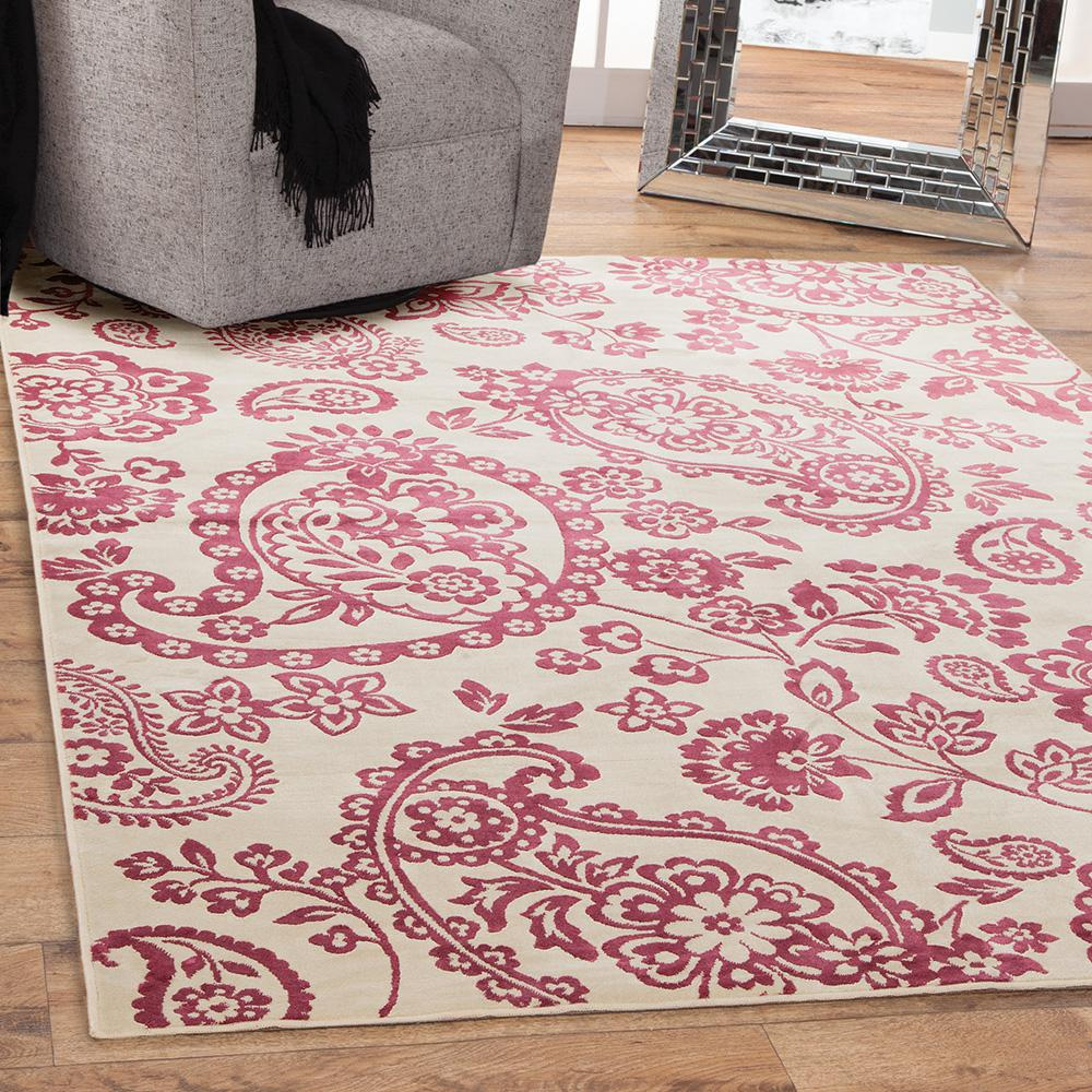 Unbranded Sonoma Hinsley Ivory 5 Ft X 8 Ft Area Rug 7088
