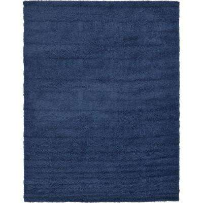Solid Shag Sapphire Blue 9 ft. x 12 ft. Area Rug