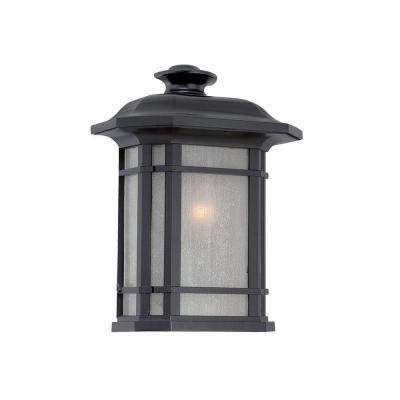 Somerset Collection 1-Light Matte Black Outdoor Pocket Wall Lantern Sconce
