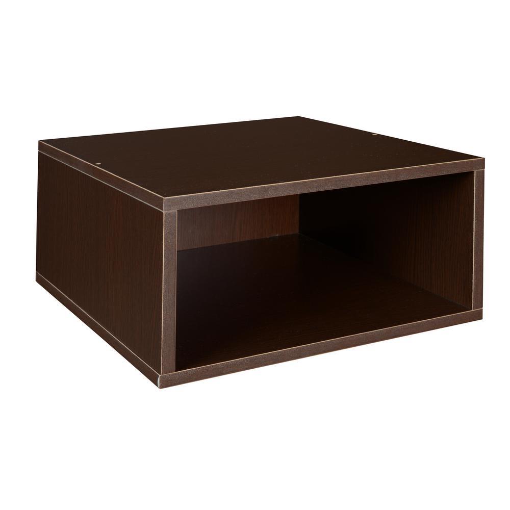 7 in. H x 13 in. W x 13 in. D Truffle Wood 1-Cube Storage Organizer