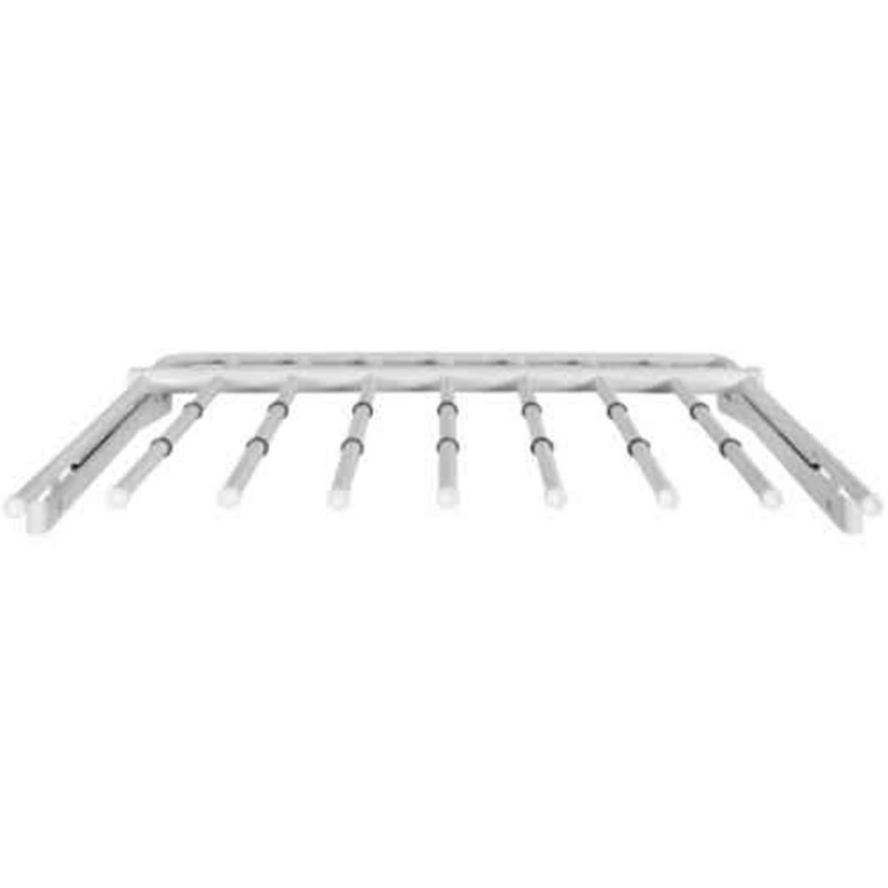 Rubbermaid 2.5 in. D x 19.187 in. W x 24.25 in. H Configurations Slide-Out Pants Rack Metal Closet System in White