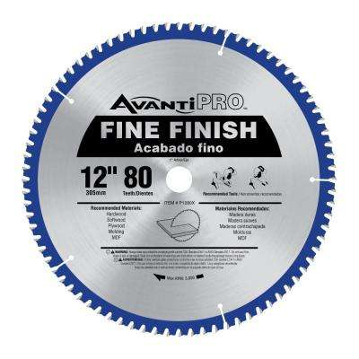 12 in. x 80-Tooth Fine Finish Saw Blade
