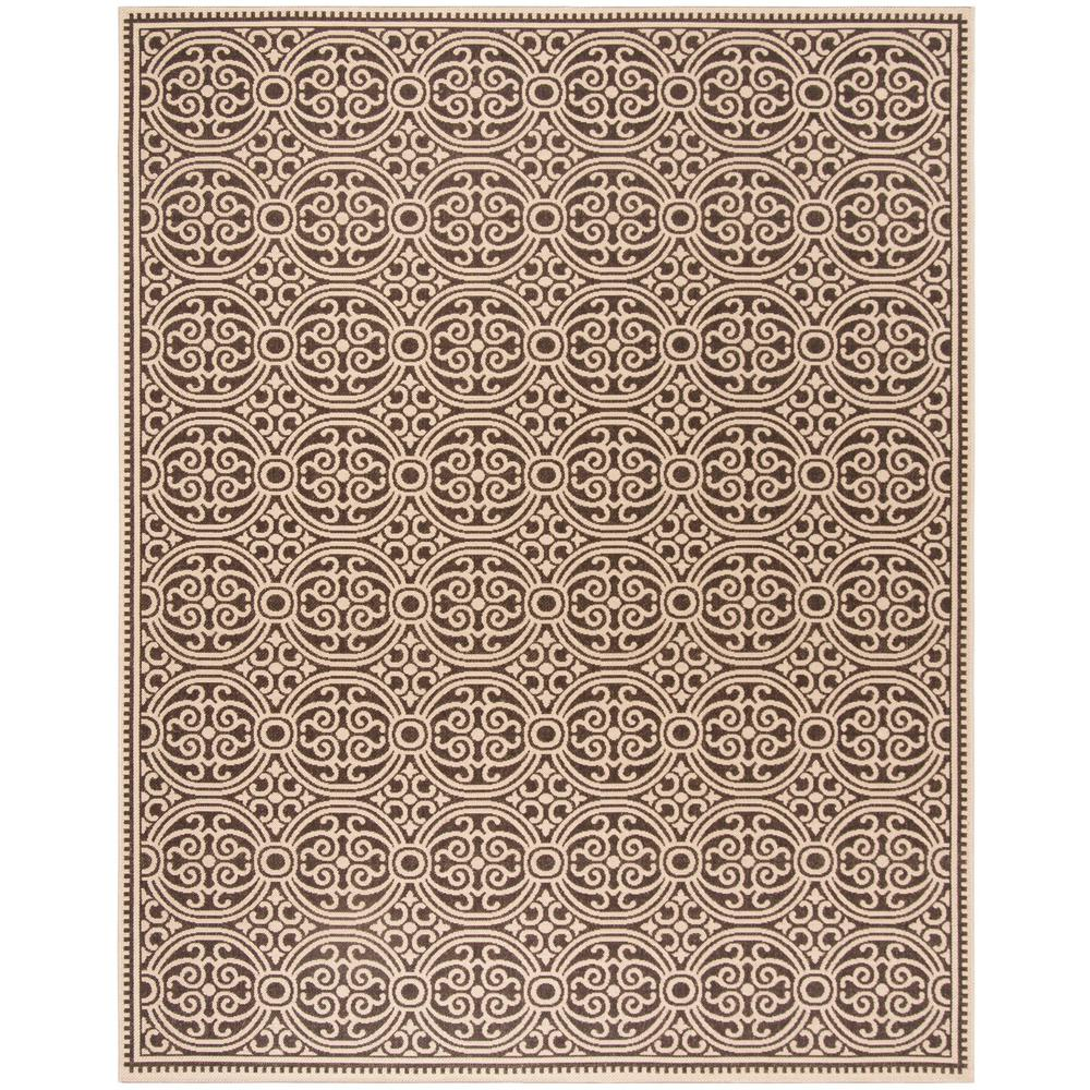 Safavieh Linden Cream Brown 8 Ft X 10