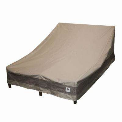Elegant 82 in. Tan Double Chaise Lounge Cover