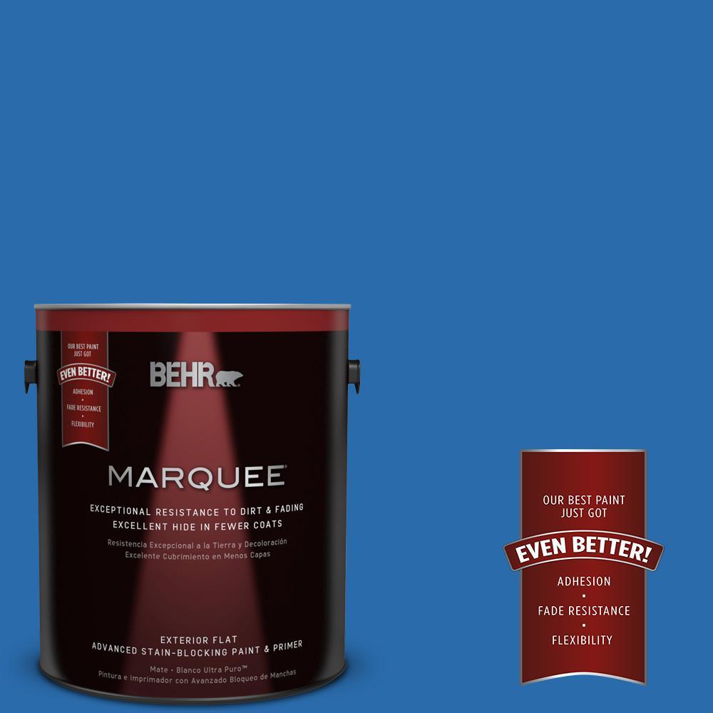 1 gal. #MQ4-24 Electric Blue Flat Exterior Paint
