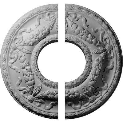 22-1/8 in. O.D. x 7-1/4 in. I.D. x 1-3/4 in. P Hurley Ceiling Medallion (2-Piece)