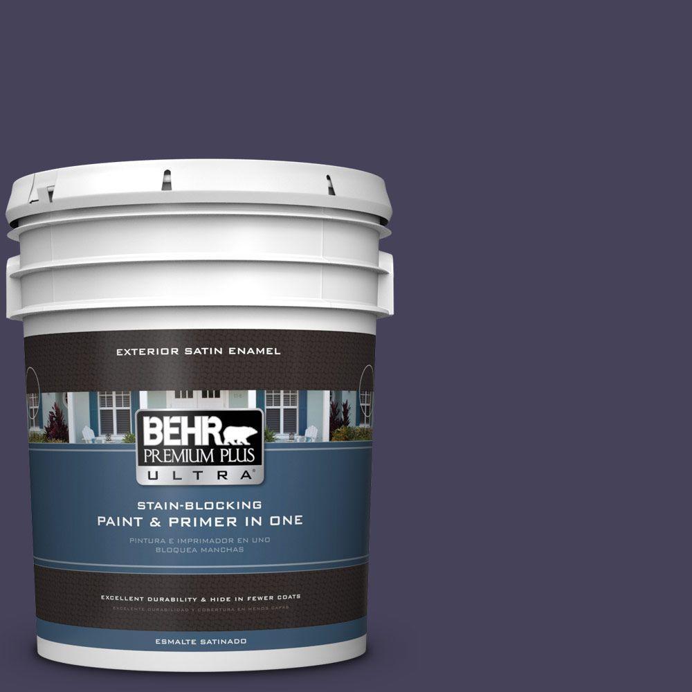 BEHR Premium Plus Ultra 5-gal. #PPU16-20 Renaissance Satin Enamel Exterior Paint
