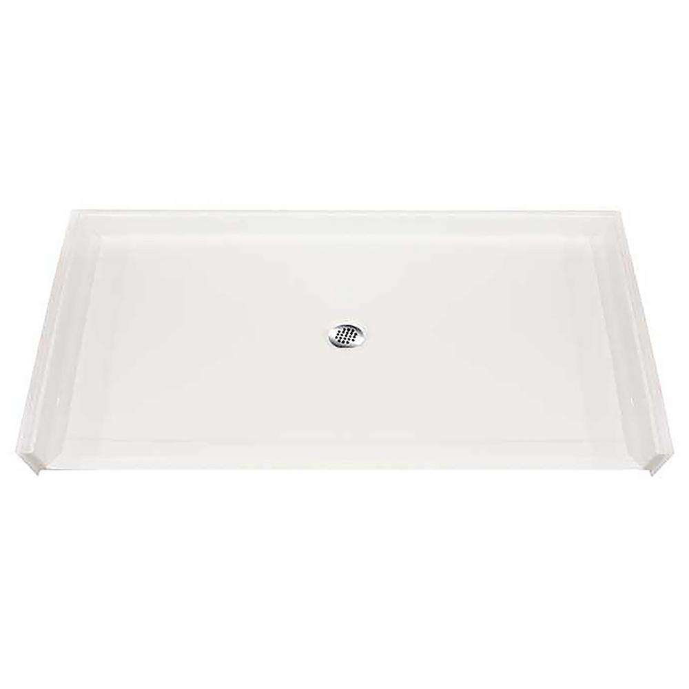 Hydro Systems Roll-In 44 in. x 50 in. Single Threshold Shower Base in White