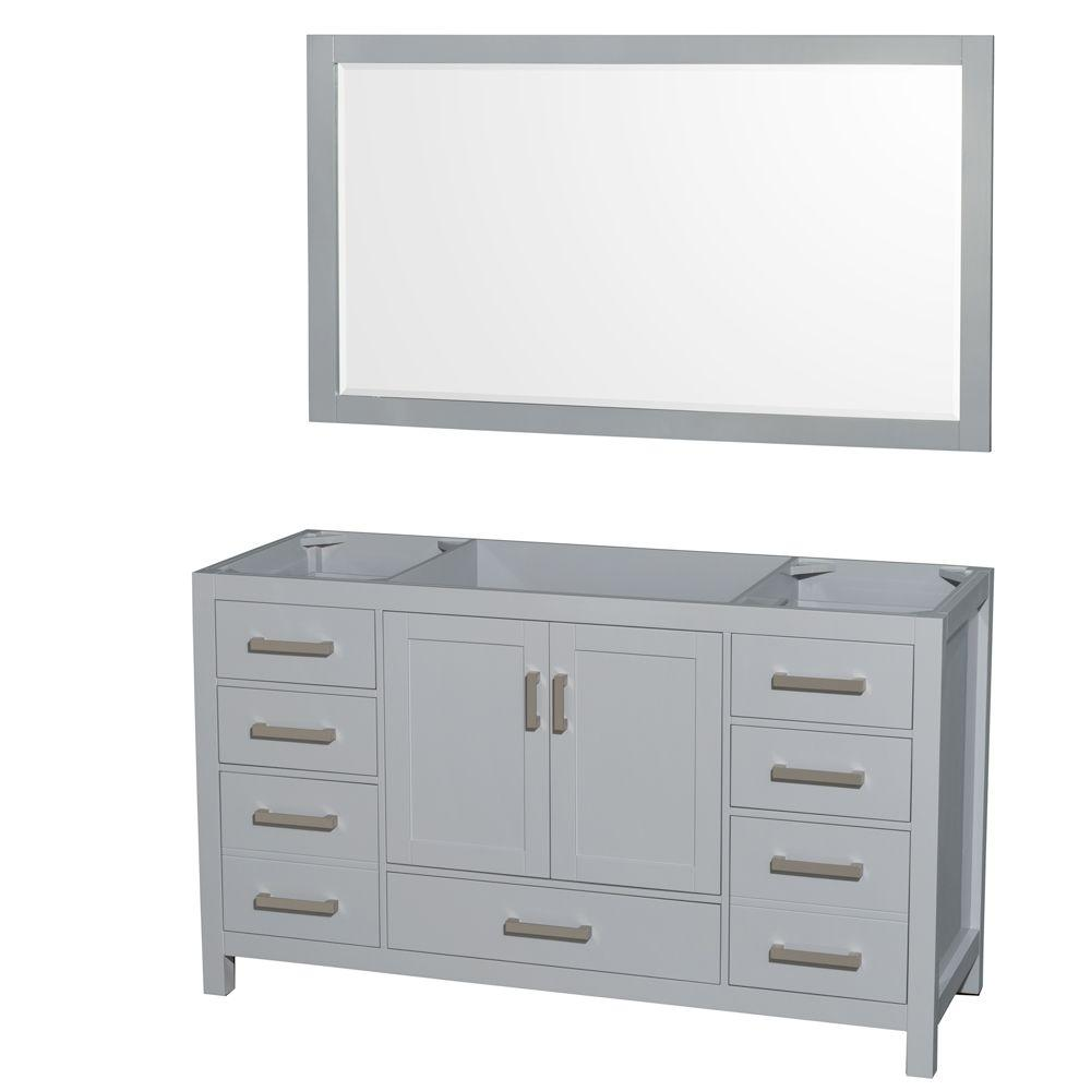 Wyndham Collection Sheffield 60 In Vanity Cabinet With