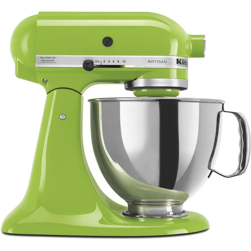 kitchenaid artisan 5 qt green apple stand mixer ksm150psga the rh homedepot com