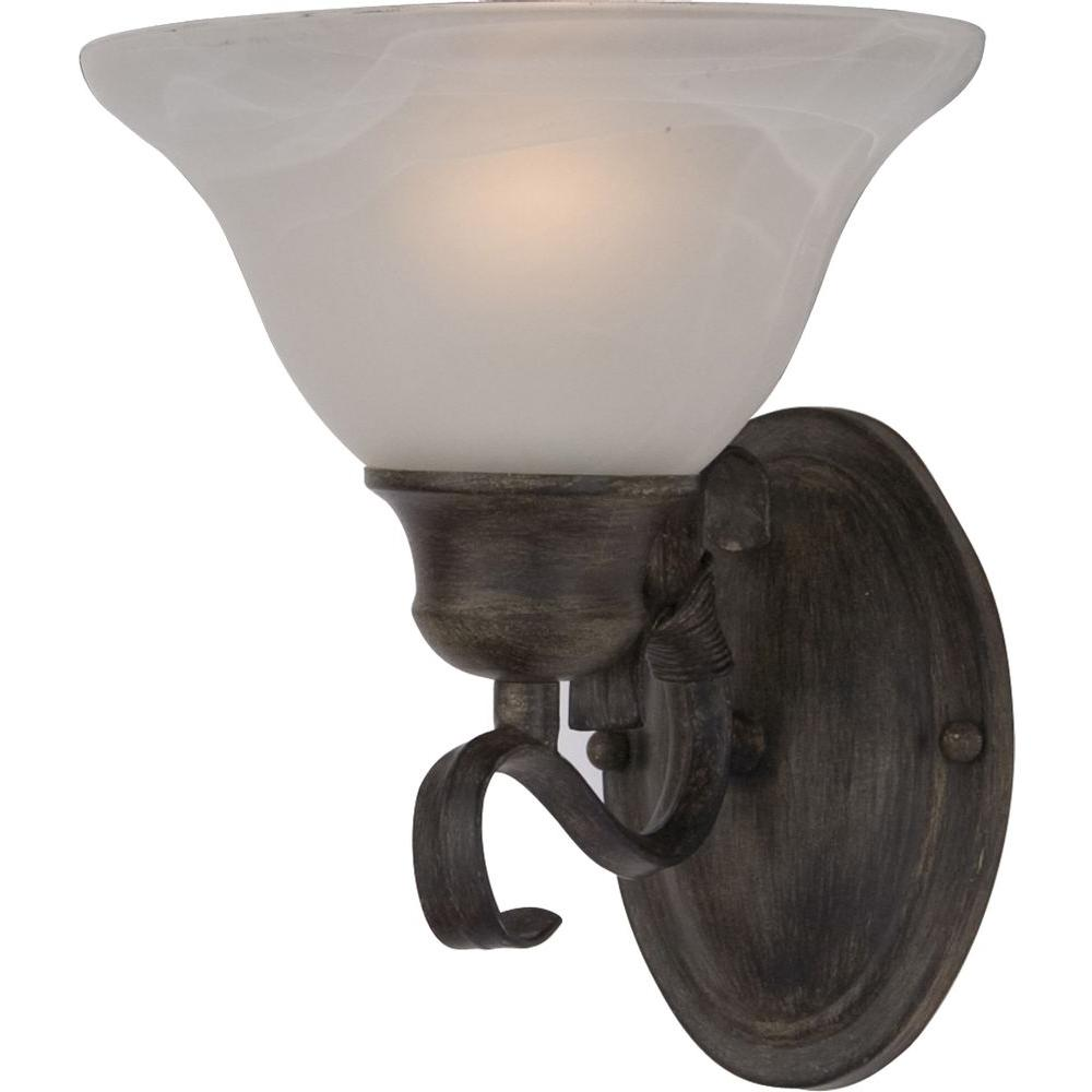 Oriax 1-Light Acorn Wall Sconce with Marble glass