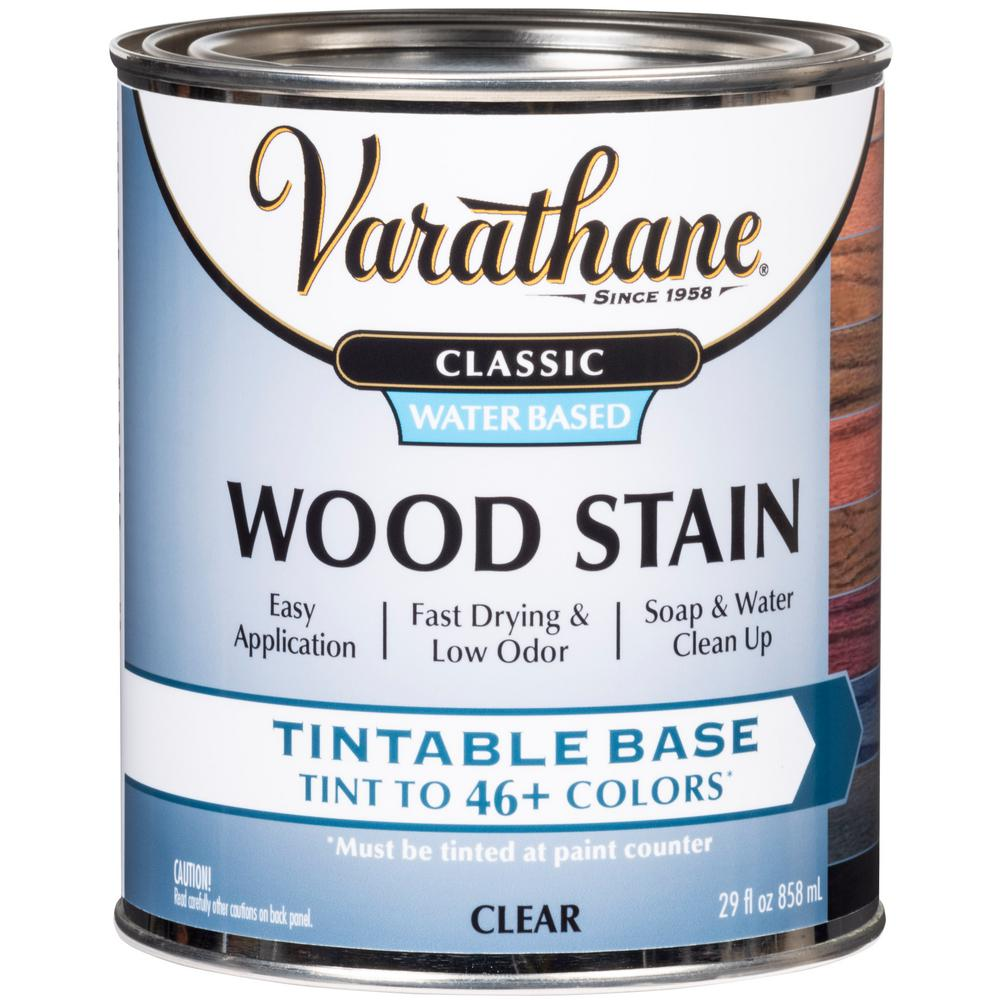 Varathane 1 qt. Classic Clear Tint Base Water-Based Interior Wood Stain