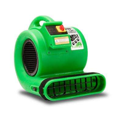 1 HP Air Mover for Water Damage Restoration Carpet Dryer Floor Blower Fan, Green