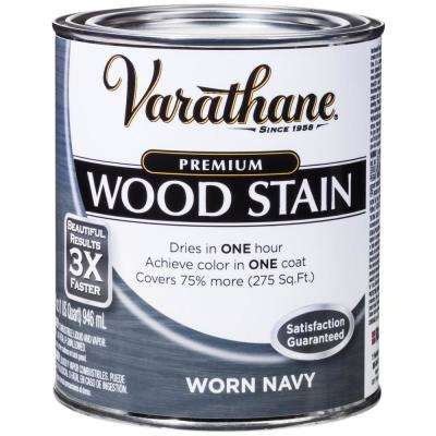1 qt. Worn Navy Premium Fast Dry Interior Wood Stain (2-Pack)