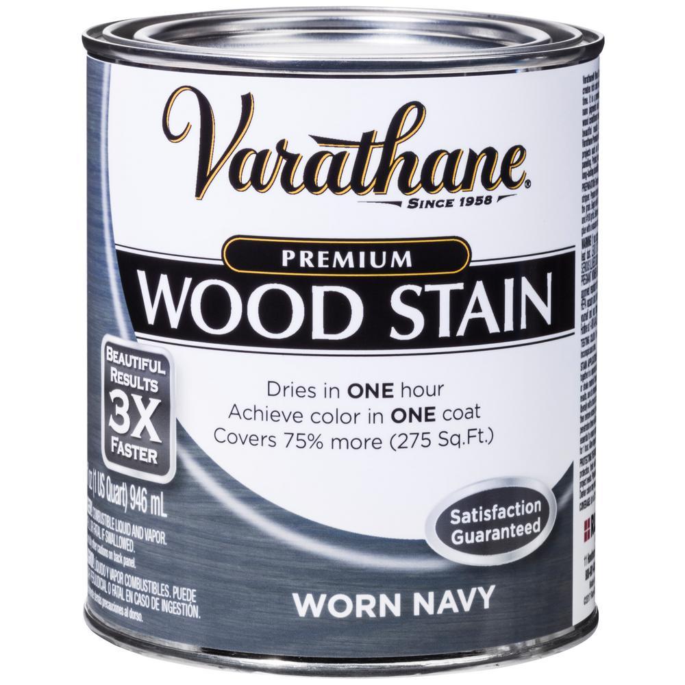 1 qt. Worn Navy Premium Fast Dry Interior Wood Stain (2-Pack)