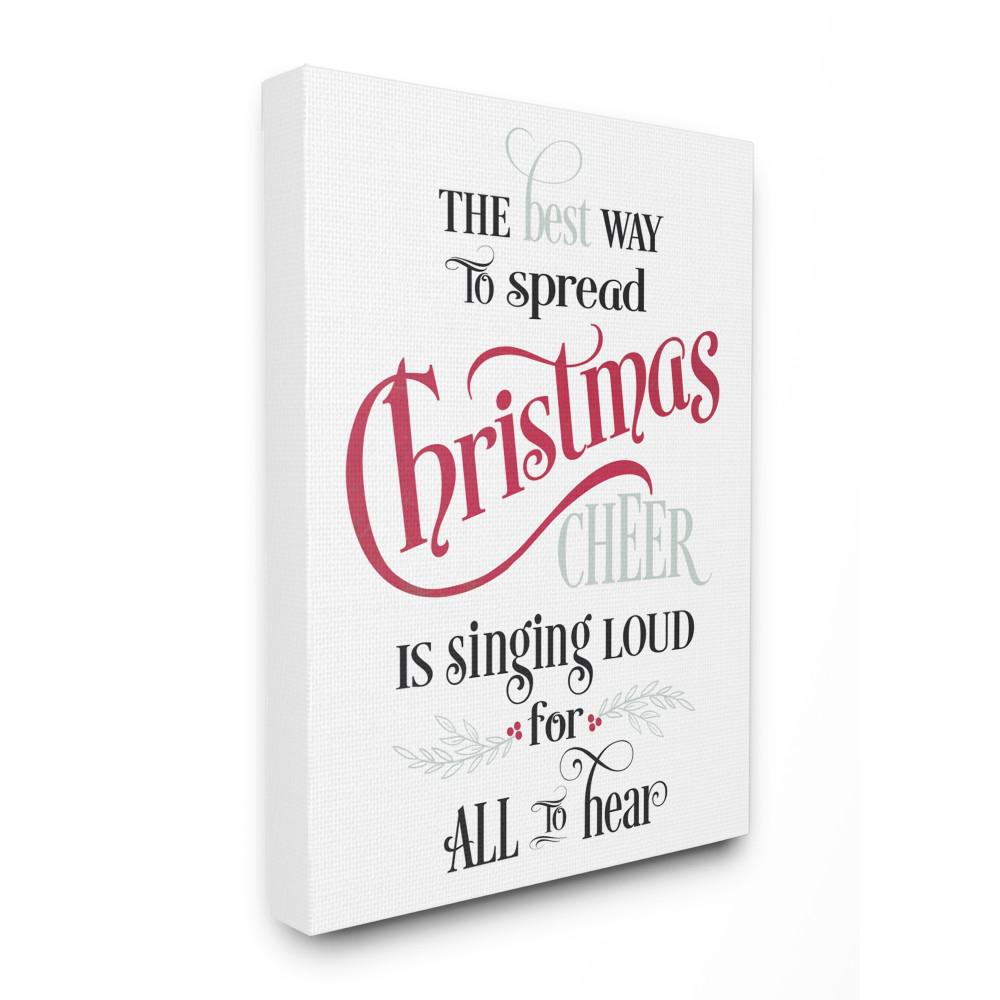 stupell industries 16 in x 20 in holiday christmas cheer singing