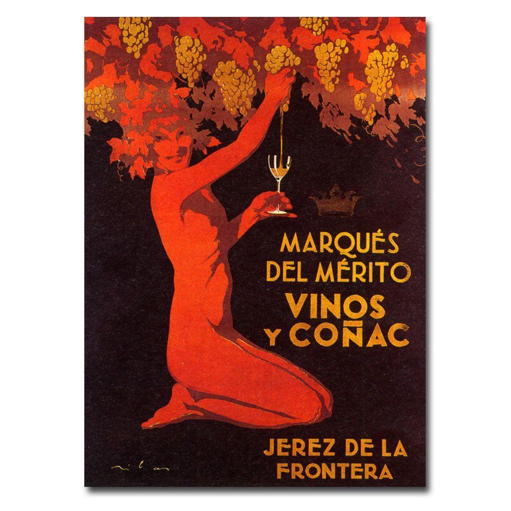 Trademark Fine Art 18 in. x 24 in. Marques del Merito Canvas Art