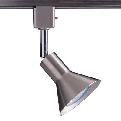 Series 17 Line-Voltage GU-10 Satin Nickel Track Lighting Fixture with Cone Style