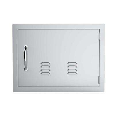 Classic Series 17 in. x 24 in. 304 Stainless Steel Horizontal Access Door with Vents