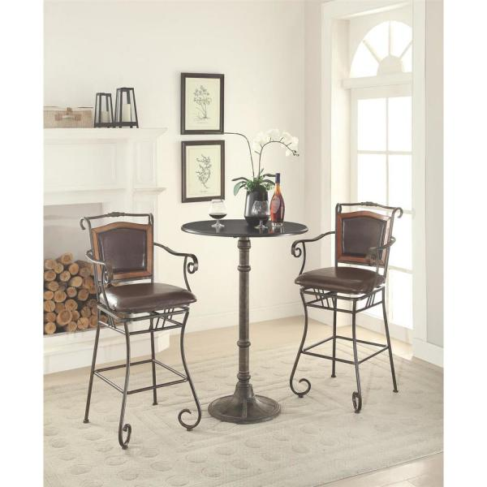 Coaster Bistro Style Bronze Bar Table 100064