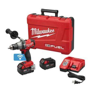 M18 FUEL ONE-KEY 18-Volt Lithium-Ion Brushless Cordless 1/2 in. Hammer Drill/Driver Kit w/(2)5.0Ah Batteries & Hard Case