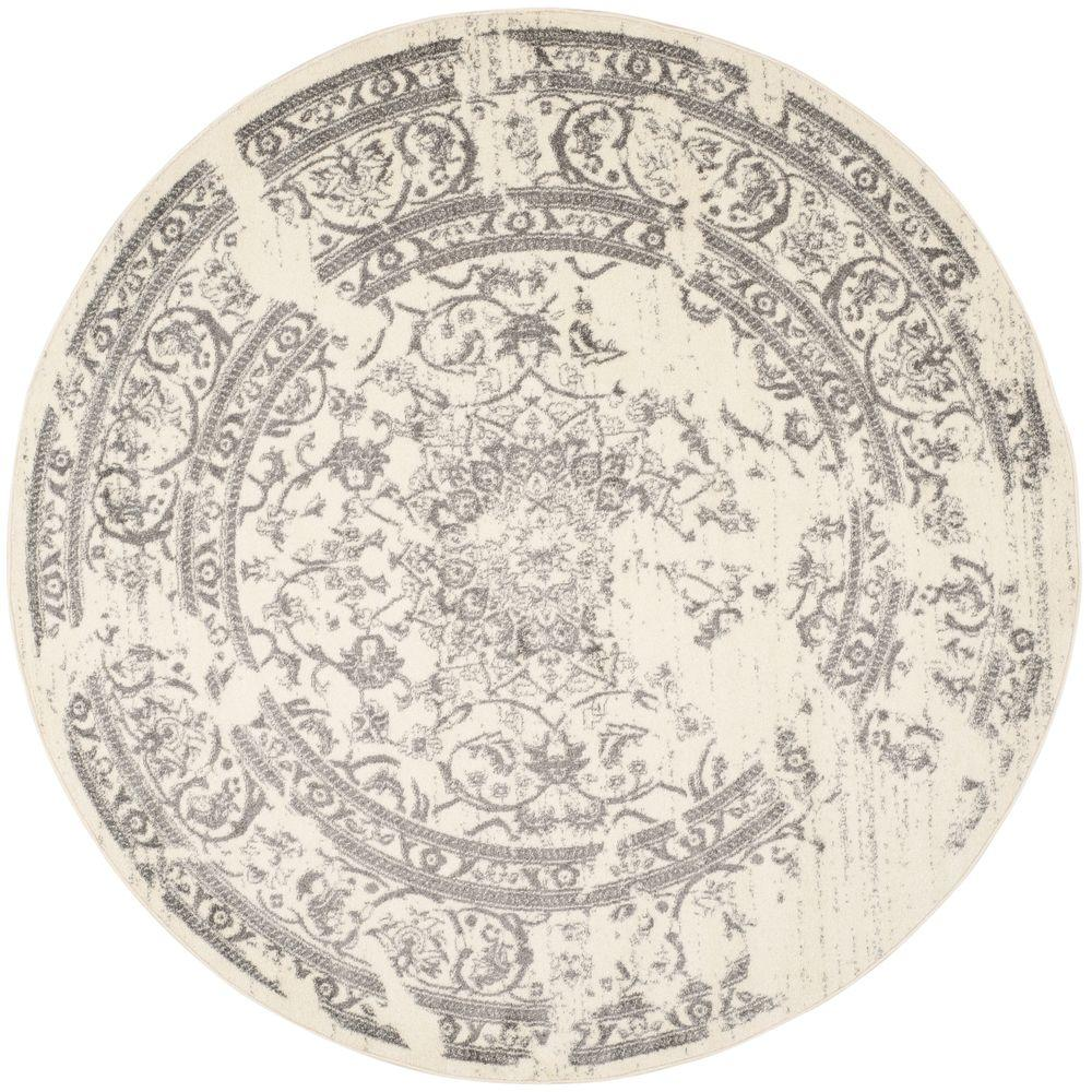 Great Safavieh Adirondack Ivory/Silver 8 Ft. X 8 Ft. Round Area Rug
