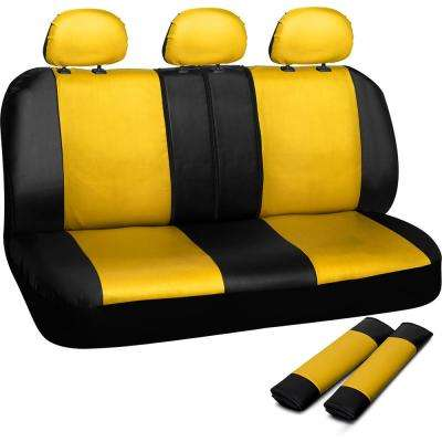 Polyurethane Bench Seat Cover in 21.5 in. L x  23 in. W x 31 in. H  Bench Seat Cover in Yellow and Black