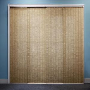 chicology adjustable sliding panel cut to length curtain drape vertical blind natural woven privacy provence the home depot