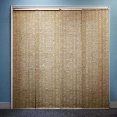 Adjustable Sliding Panel / Cut to Length, Curtain Drape Vertical Blind, Natural Woven, Privacy - Provence Maple