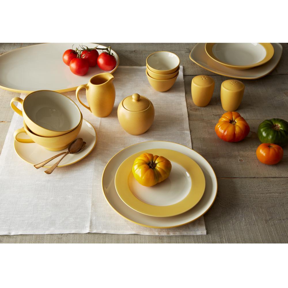 Colorwave 11 in. Mustard Rim Dinner Plate