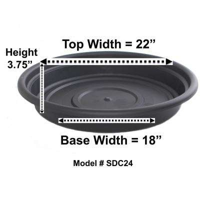 Pot Trays Gardening Planter saucers planter accessories the home depot plastic saucer in black workwithnaturefo