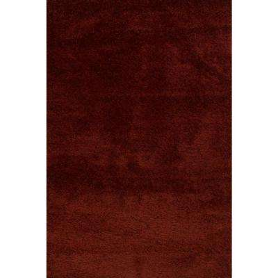 Hanford Shag Red 9 ft. x 12 ft. Area Rug