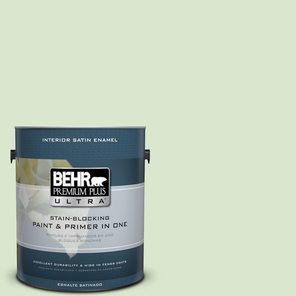 BEHR Premium Plus Ultra 1-gal. #T12-18 Minty Frosting Satin Enamel Interior Paint
