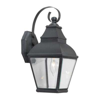 Bristol 1-Light Wall Mount Outdoor Charcoal Sconce