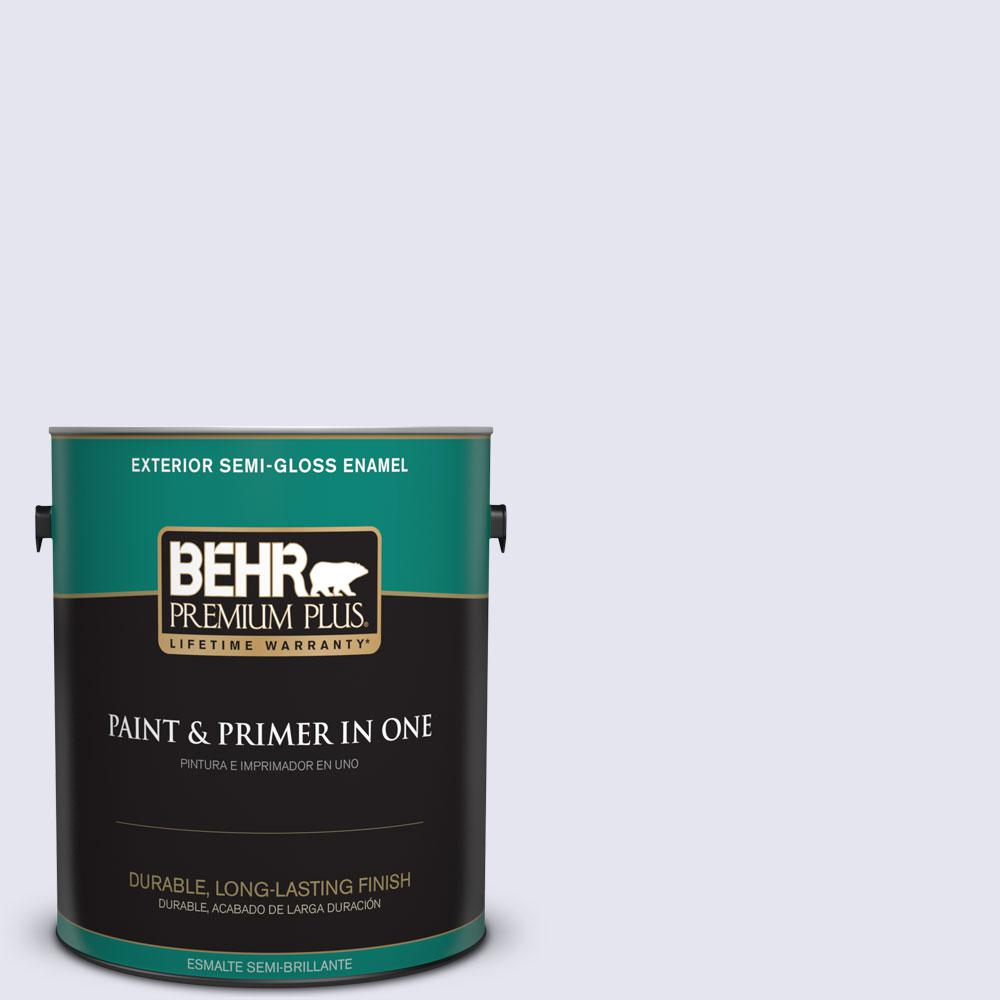 BEHR Premium Plus 1-gal. #630E-1 Dreamy Cloud Semi-Gloss Enamel Exterior Paint