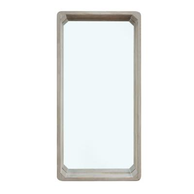 Magnolia Ranch 32 x 16 in. Distressed White Wash Wood Framed Mirror