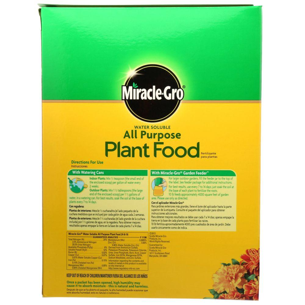 Miracle Gro 10 Lb Water Soluble All Purpose Plant Food