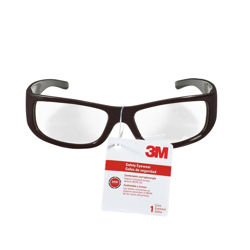 3M Classic Black Frame with Indoor/Outdoor Mirror Lenses Safety Glasses