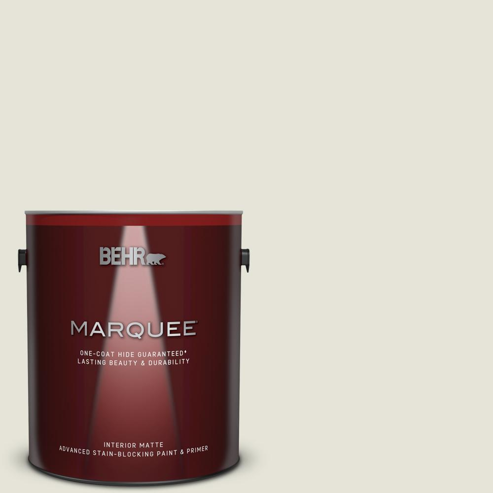 BEHR MARQUEE 1 gal. Ultra Pure White Matte Interior Paint and Primer in One