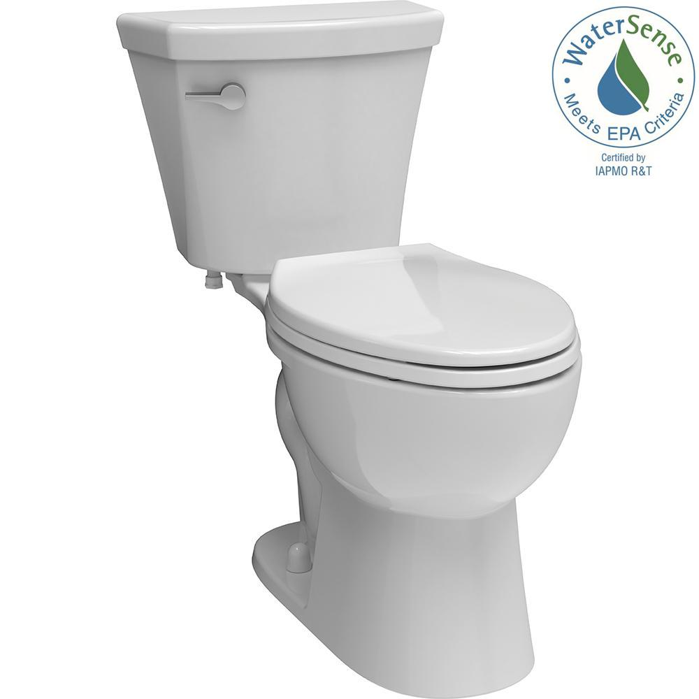 Turner 2-piece 1.28 GPF Single Flush Elongated Toilet in White