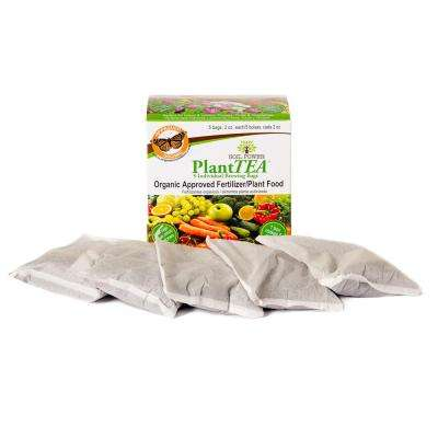 PlantTEA - 5 Individual 2 oz. (10 oz. Total) Brew Bags of Certified Organic Approved Fertilizer/Plant Food