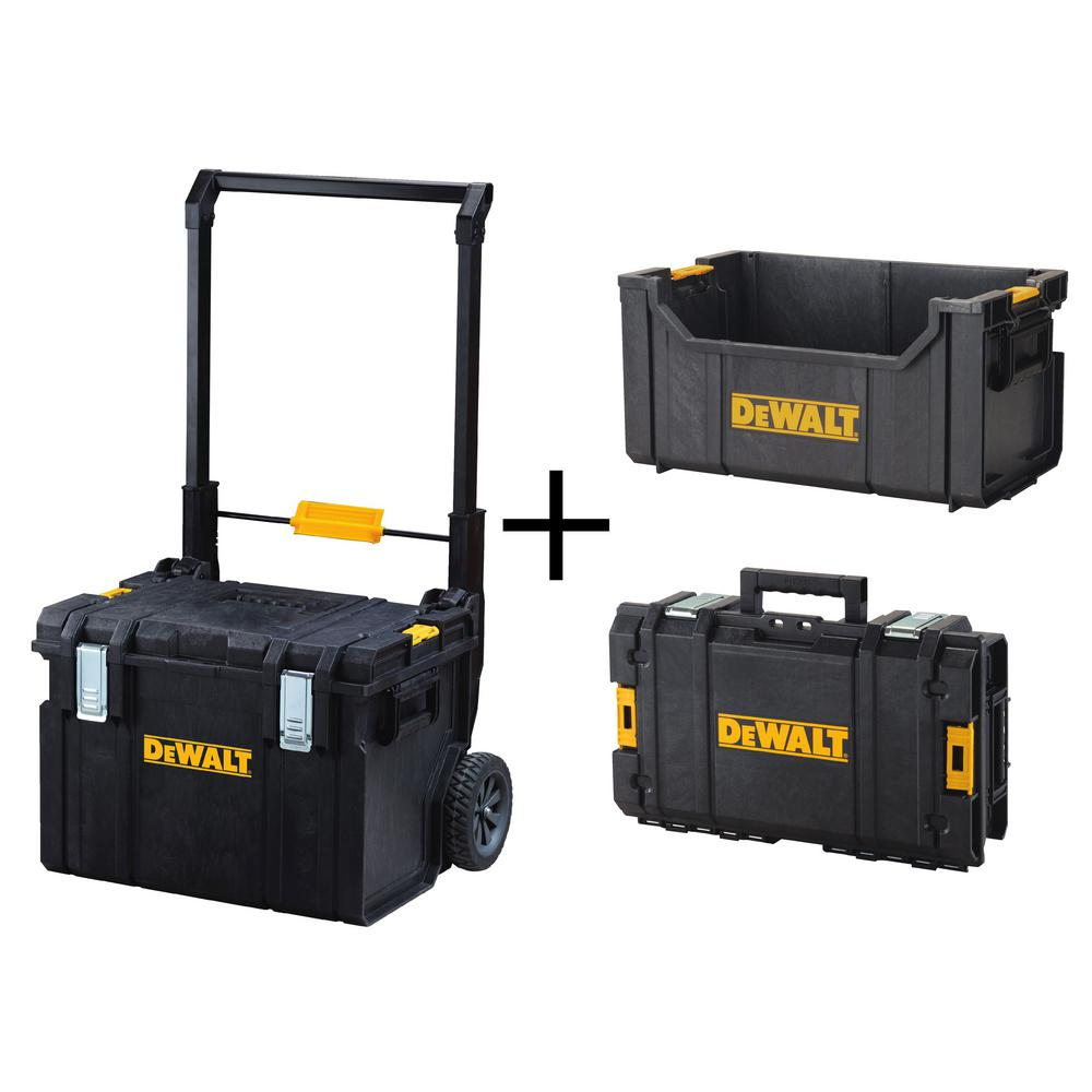 ToughSystem DS450 22 in. 17 Gal. Mobile Tool Box, DS280 Tote