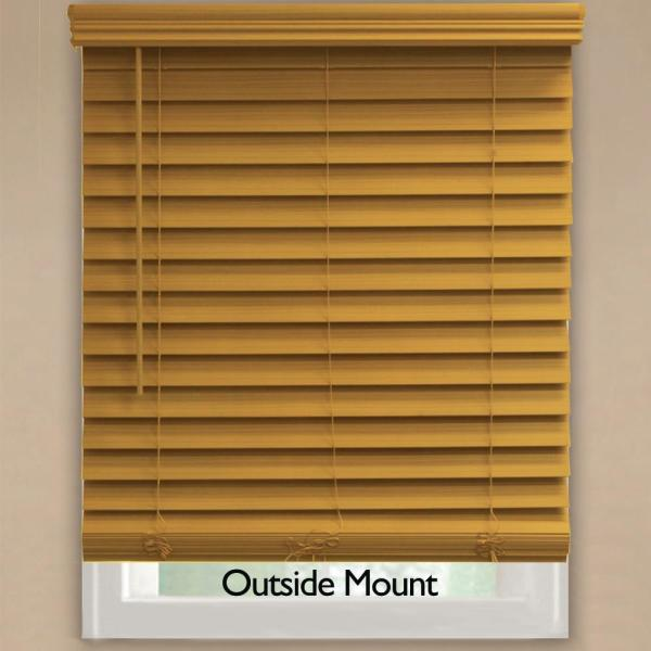 Home Decorators Collection Chestnut 2 1 2 In Cordless Premium Faux Wood Blind 72 In W X 72 In L Actual Size 71 5 In W X 72 In L 10793478395590 The Home Depot