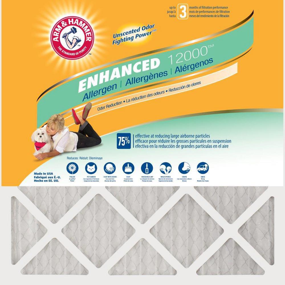 18 in. x 24 in. x 1 in. Odor Allergen and Pet Dander Control Air Filter (12-Pack)
