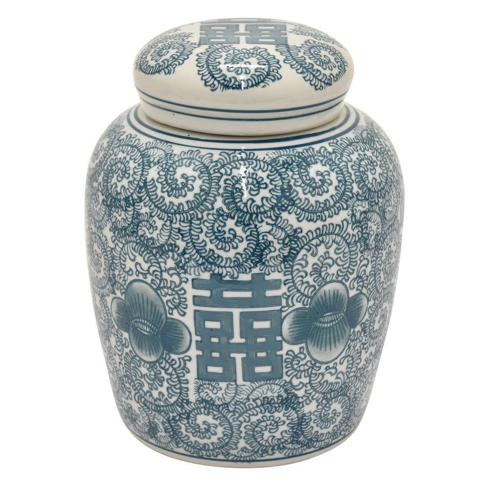 10 in. Green Ceramic Jar