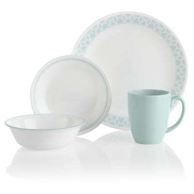 16-Piece Casual Delano Glass Dinnerware Set (Service for 4)