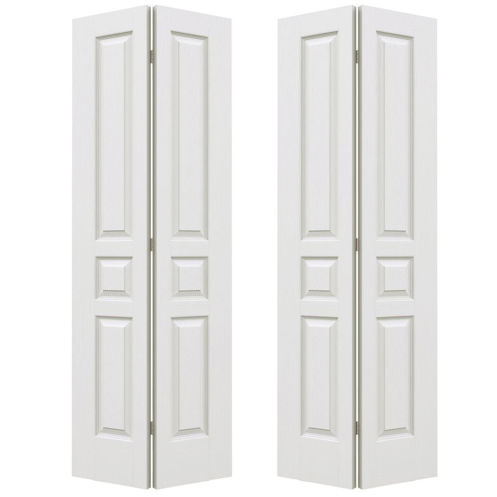 Jeld-Wen 72 in. x 80 in. Avalon Primed Textured Hollow Co...