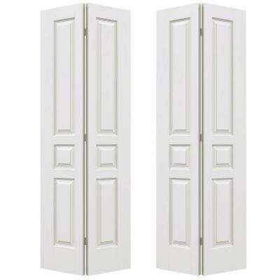 Charming 72 In. X 80 In. Avalon Primed Textured Hollow Core Molded Composite MDF  Closet